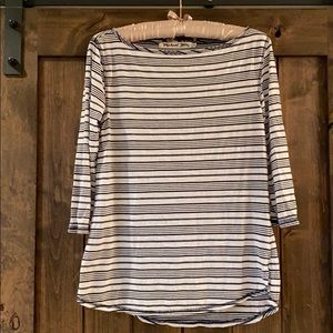 Michael Stars Striped Boatneck 3/4 Sleeve